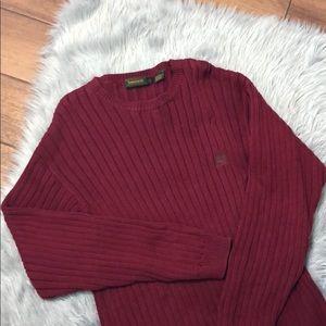Timberland Wine Red Knit CrewNeck Sweater